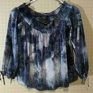 NWOT💜 Crushed Velvet off-shoulder Tie-dyed